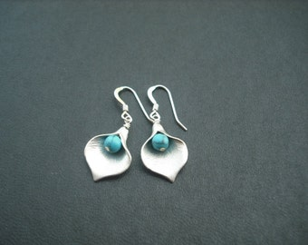 Calla Lily earrings verson 2