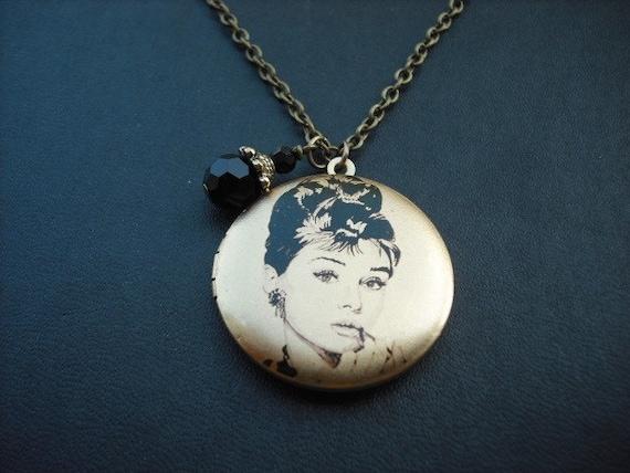 Audrey Hepburn - Holly Golightly in Breakfast at Tiffanys locket