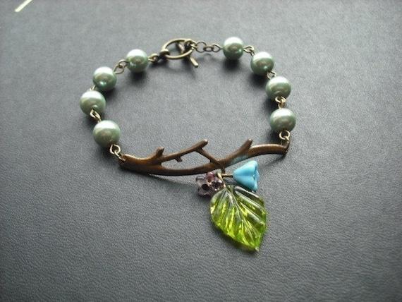 bare branch teal bracelet