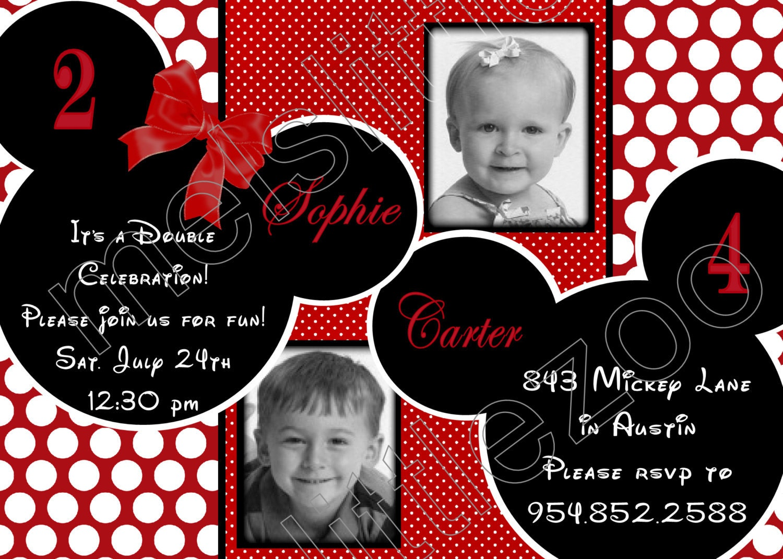 Free Minnie Mouse Invitations Templates with adorable invitation design