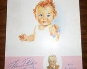 Vintage Moire Silk Baby Book