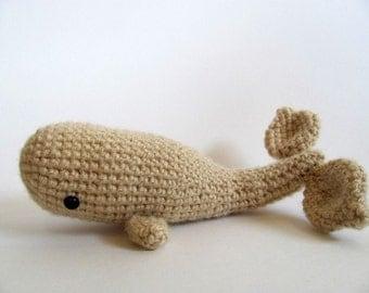 Crochet PATTERN PDF - Amigurumi Whale - cute crochet whale pattern, whale plush amigurumi pattern, moby dick amigurumi toy, softie