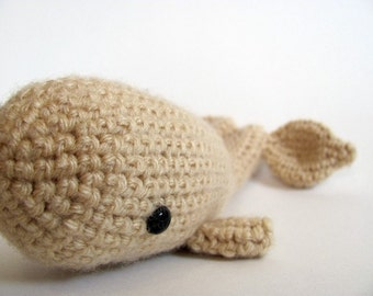 MADE to ORDER - Amigurumi Whale - cute crochet whale softie, whale plush amigurumi, moby dick, ocean animal amigurumi toy