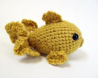 Crochet PATTERN PDF - Amigurumi Goldfish - amigurumi pattern, crochet pattern, cute crochet fish, amigurumi animal, goldfish plush, softie