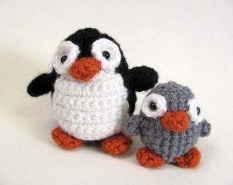 Crochet PATTERN PDF - Amigurumi Penguin and Chick - cute crochet antarctic penguin, crochet penguin amigurumi pattern, amigurumi toy, softie
