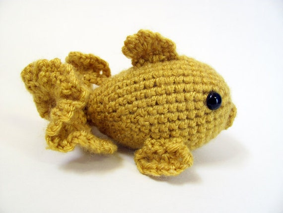 Crochet PATTERN PDF - Amigurumi Goldfish - amigurumi pattern, crochet pattern, cute crochet fish, amigurumi animal, goldfish plush, softie