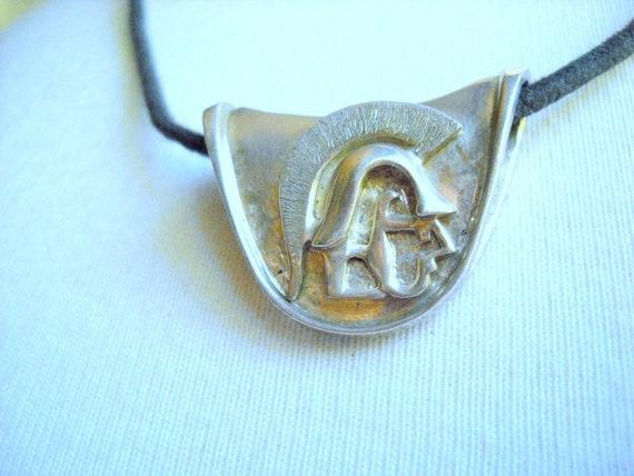 Sterling Silver Trojan Pendant, Time Ravleler