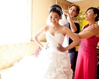Wedding Dress - Ruffle Skirt Sunday Rose Style