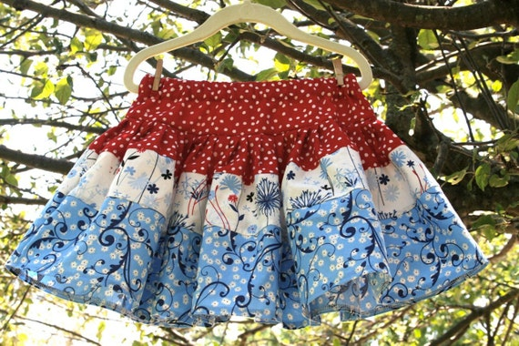 RESERVED for ROSE - 4th of July skirts in sizes 4, 8 & 10