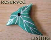 RESERVED - Custom Mallorn Leaf Necklace