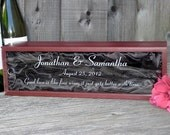 Personalized Engraved Wood Wine Box Wedding or Anniversary Keepsake Groomsman Best Man Bridesmaid Maid of Honor Gift Rosewood Acrylic Lid