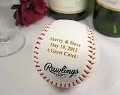 Personalized Engraved Baseball Wedding Bride Groom Ring Bearer Groomsman Usher Wedding Party Favor Gift Keepsake Gift
