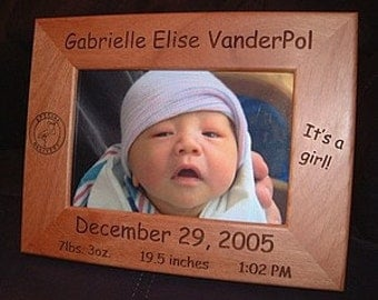 5x7 Personalized Engraved Special Delivery Baby Frame Keepsake Gift Nursery Decor