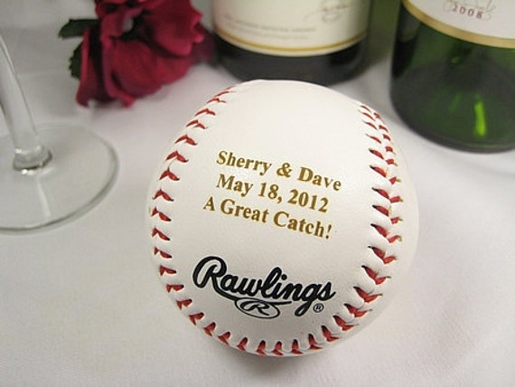 Personalized Engraved Baseball Wedding Bride Groom Ring Bearer Groomsman Usher Wedding Party Favor Gift Keepsake Gift