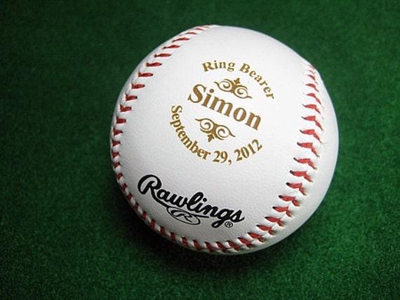 Baseball Wedding Gifts: Personalized Engraved Baseball Rawlings Ring By Engravingwiz