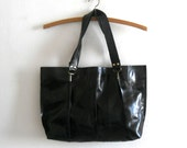 Beautiful black leather tote,for every day use.