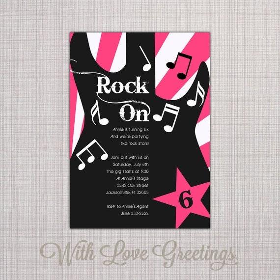 Rockstar party theme Lifes Little Celebration – Rock Star Party Invitations