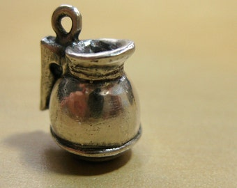 "Coffee Pot Sterling Silver Charm - ""Top Me Off"""