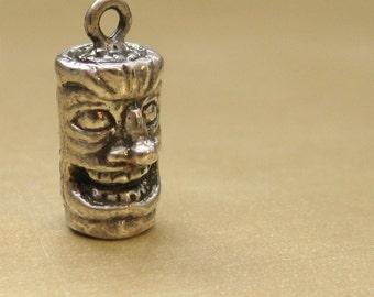 "Tiki Totem Sterling Silver Charm ""Totally Tiki"""