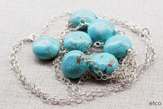 Arizona Necklace . Turquoise . Sterling Silver