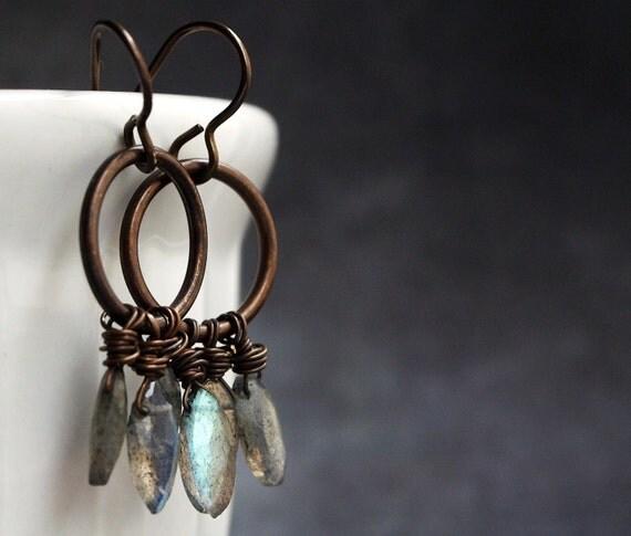 Labradorite Marquise Earrings