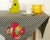 this land is our land square gingham picnic tablecloth