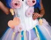 Custom Size  Katy Perry inspired candy cupcake corset dress