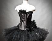 Size Medium Black Swan Ballet costume Burlesque tutu Ready to Ship