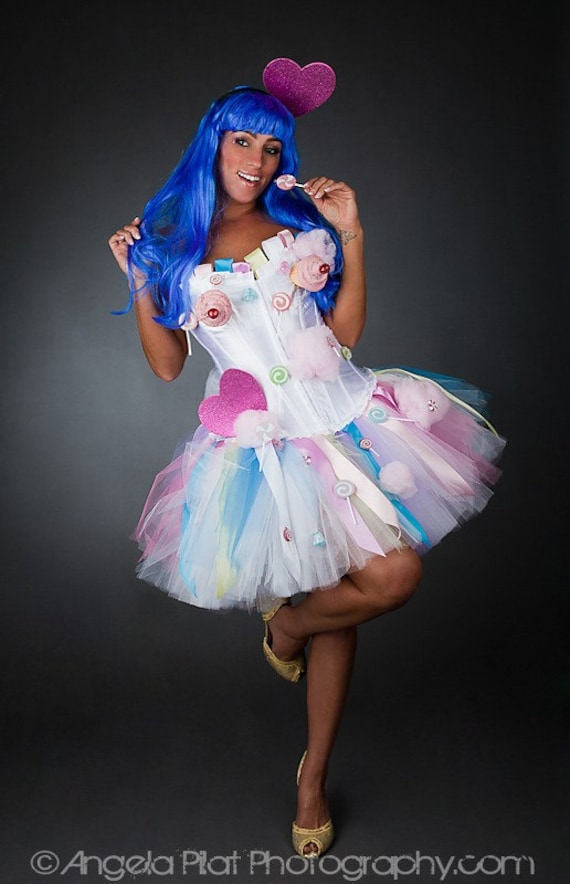 Size small Katy Perry inspired candy cupcake corset dress