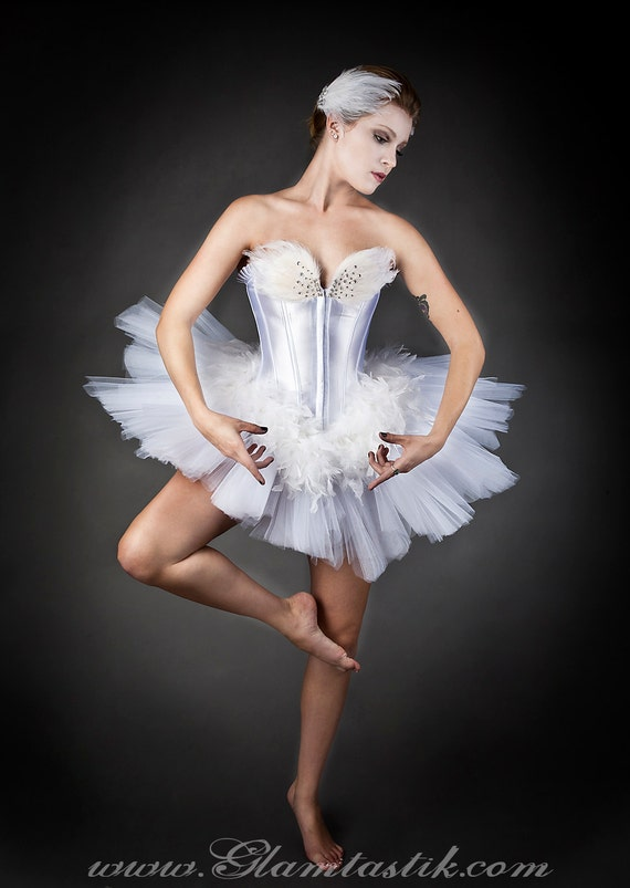 benutzerdefinierte gr e white swan ballet kost m burlesque. Black Bedroom Furniture Sets. Home Design Ideas