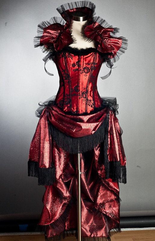 Size MED Burlesque corset dress costume ringmaster saloon
