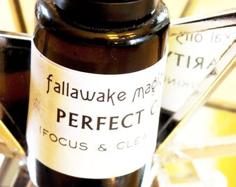 Magickal Ritual Oil - Perfect Clarity Focus and Clear Thinking Aromatherapy  (15 ml)