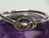 Single Celtic Love Knot Ring in 18 to 8 gauge Sterling Silver