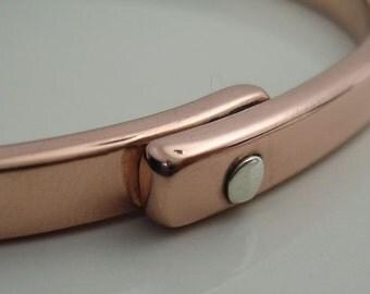 Silver Button Copper Bracelet