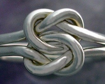 Heavy Gauge Double Love Knot Ring in Sterling Silver