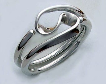 Two Turn Vortex Energy Ring in 12 gauge Sterling Silver