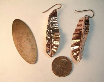 Copper penny earrings - My 2 cents worth