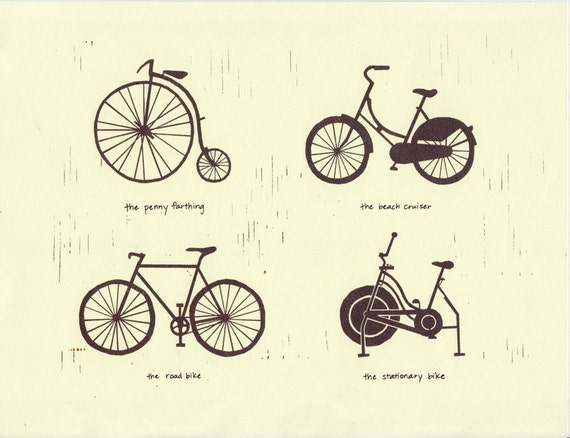 Bike Types BIKE TYPES Art Illustration