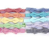 Gingham Wing Tip Preppy Bow Tie for Boys / Child
