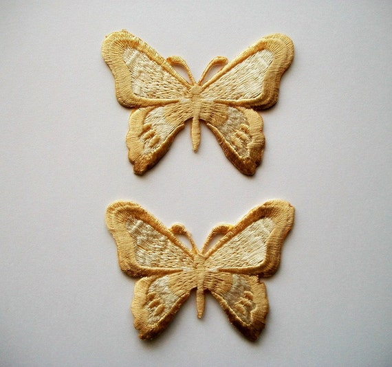 Iron on Appliques Beige Butterflies