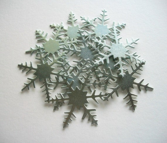 Large metal snowflake charms or ornaments pcs