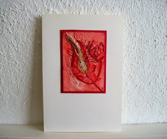 Wall Hanging Original Mixed Media Art or Exclusive Greeting Card  One of a Kind
