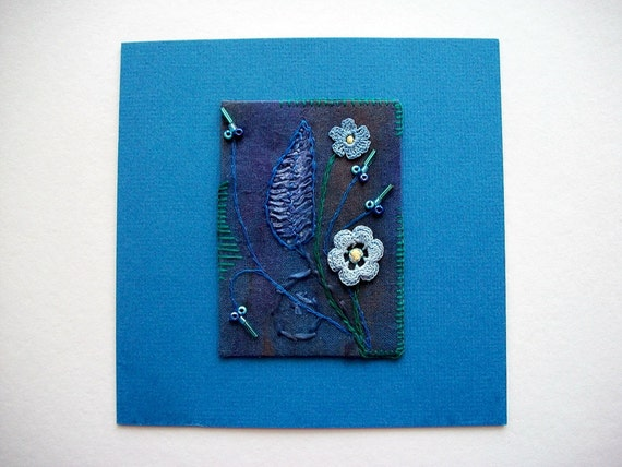 Art Greeting Card or Wall Hanging Mixed Media Art One of a kind