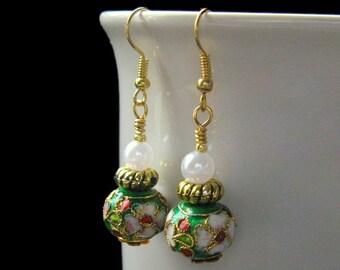 Handmade Earrings - Beaded - Ariel's Secret Garden