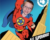 Superhero Invitation - Personalized with your photo DIGITAL FILE