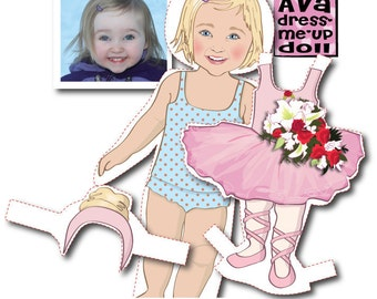 Toddler's Personalized Paper Doll Kit - Printable - DIGITAL FILES
