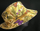 Reversible Summer Hat Sunhat Fabric Hat Cloche SAMPLE CLEARANCE
