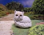 Papier-Mache Cat Sculpture