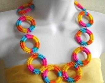 Circular Multicolor Necklace