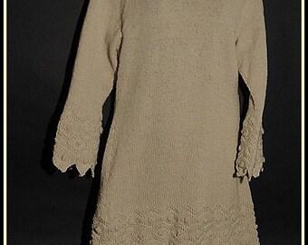 off white wool bobble dress